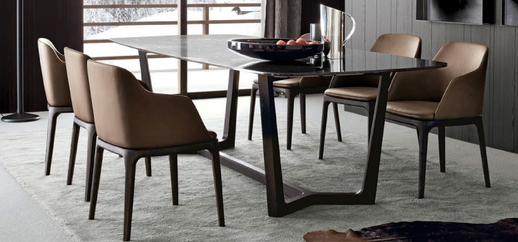 Poliform dealer Lineo collectie eetkamerstoelen. afgebeeld: Poliform Grace